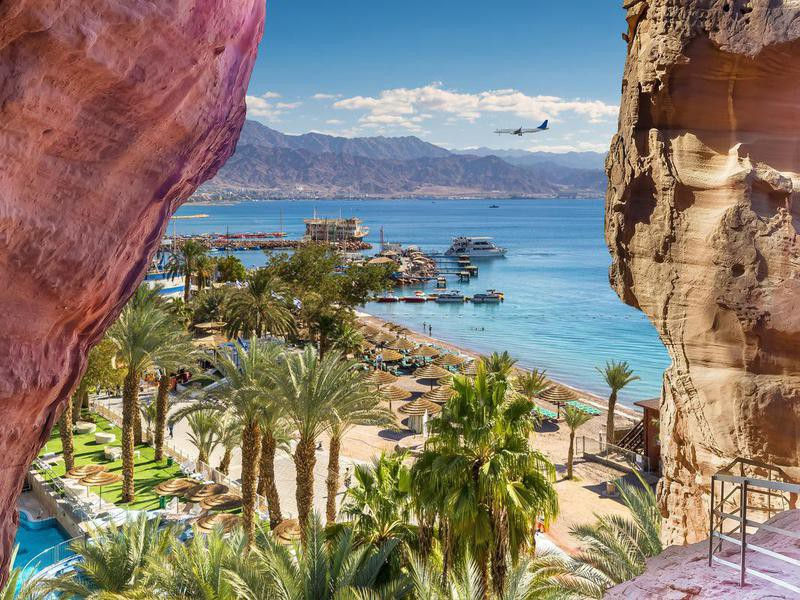 Gulf of Eilat on. asunny day