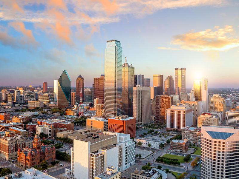 Dallas benefits from a low tax burden, thanks to Texas's lack of state income tax.