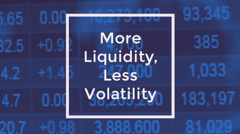 More Liquidity, Less Volatility