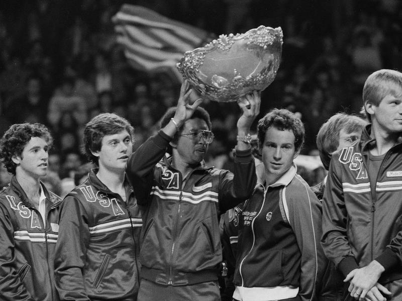 Arthur Ashe, John McEnroe and the 1982 U.S. Davis Cup team