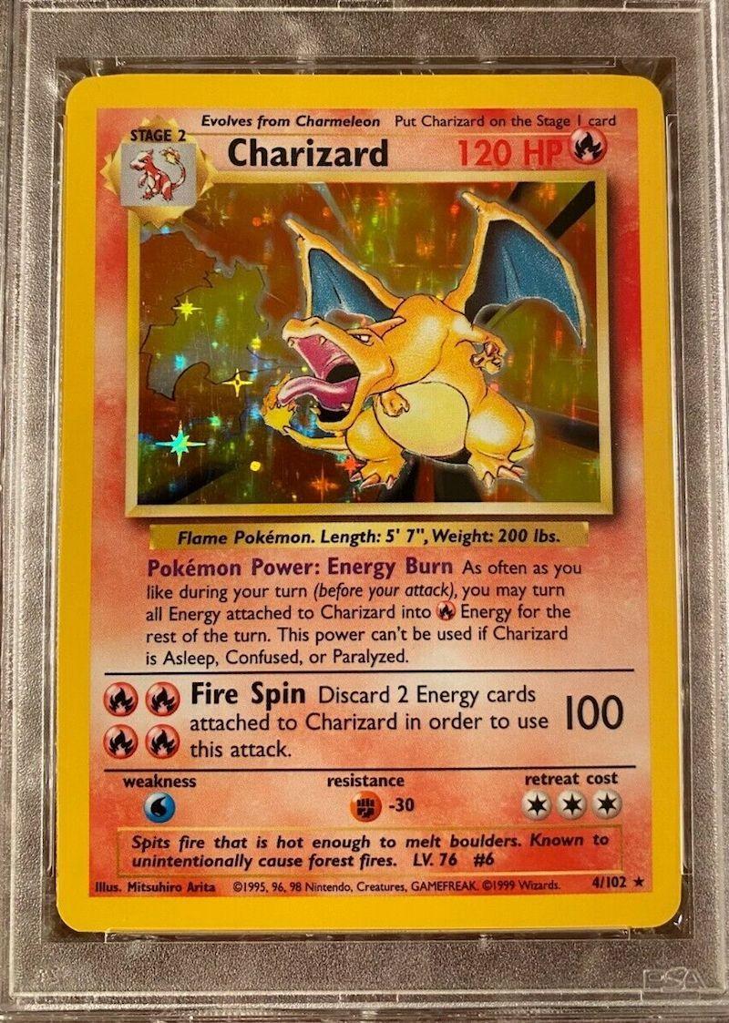 Charizard Holo Pokemon Card