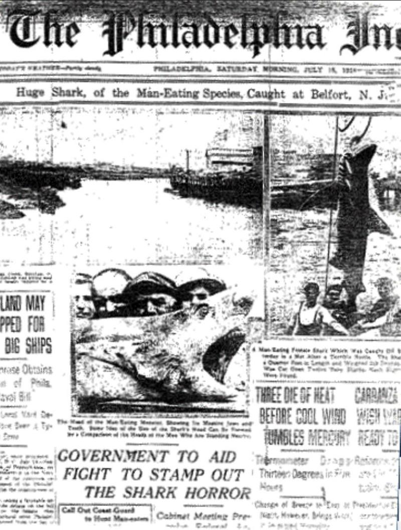 1916 New Jersey shark attacks