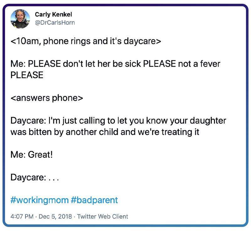 daycare calls