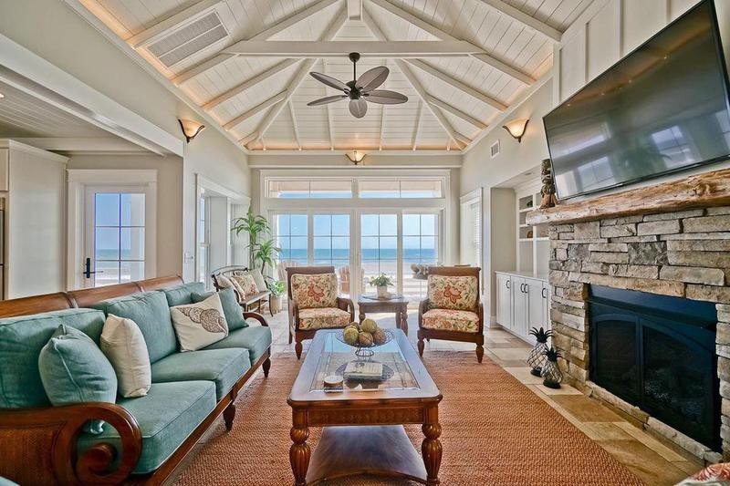 Holden Beach house interior
