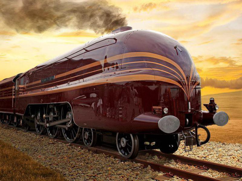 Art deco train model in 2021