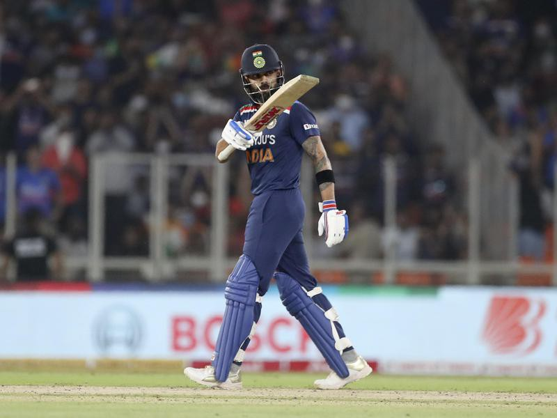 India's captain Virat Kohli celebrates