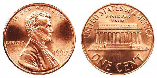 1999 Lincoln Memorial Cent (Wide AM)