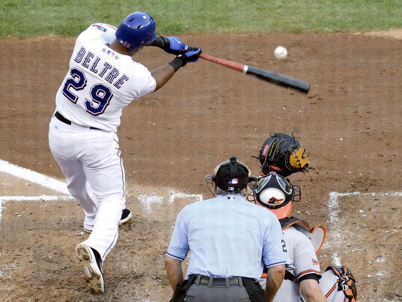 Texas Rangers Adrian Beltre during at bat