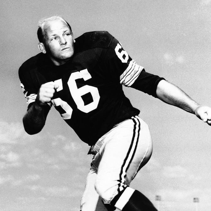 Ray Nitschke at practice