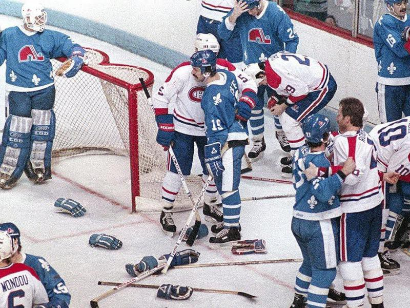Quebec Nordiques and Montreal Canadiens