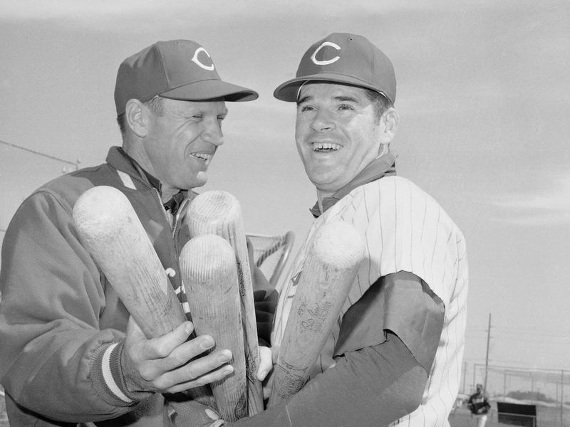 Pete Rose and Dick Sisler