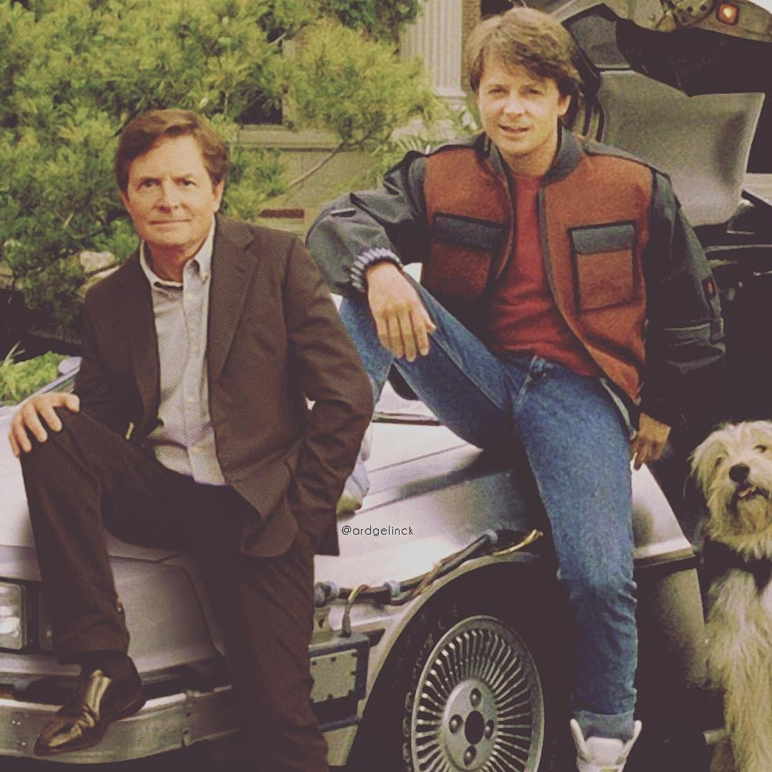 Michael J. Fox and Marty McFly