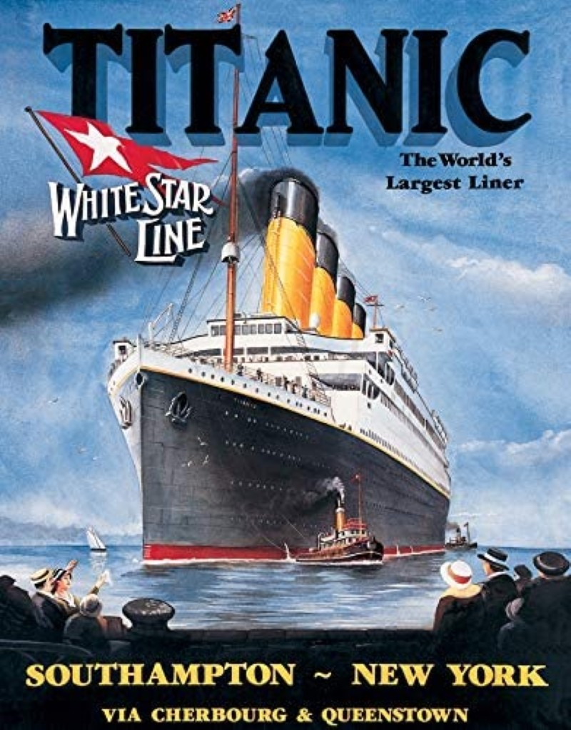 Vintage ad for the Titanic