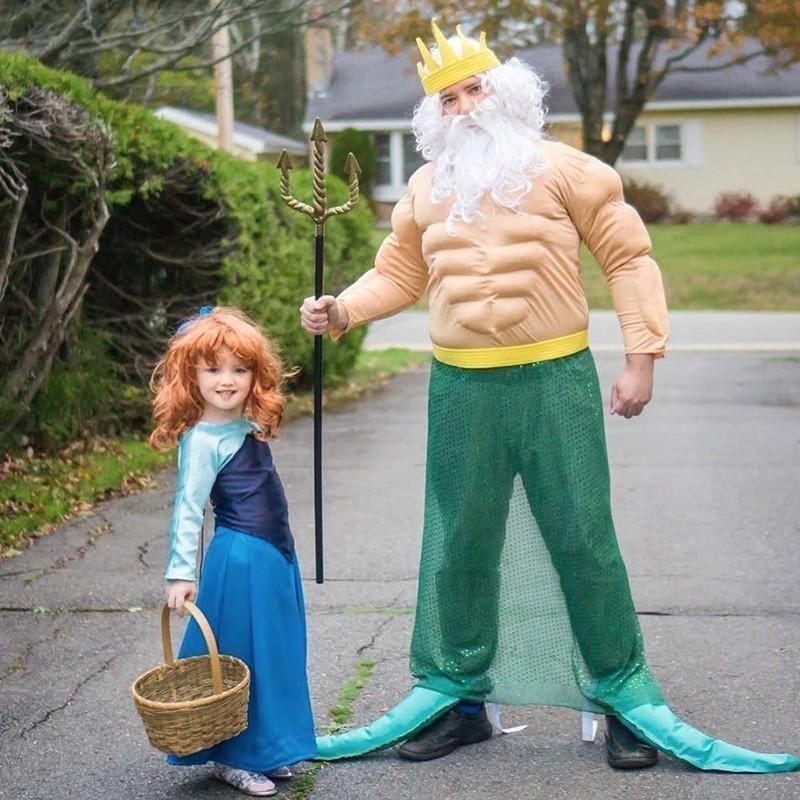 Ariel and Triton costumes
