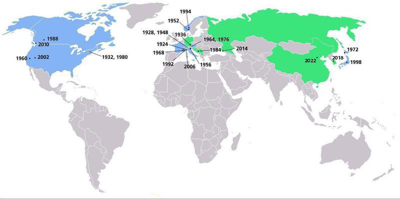Winter Olympics host cities
