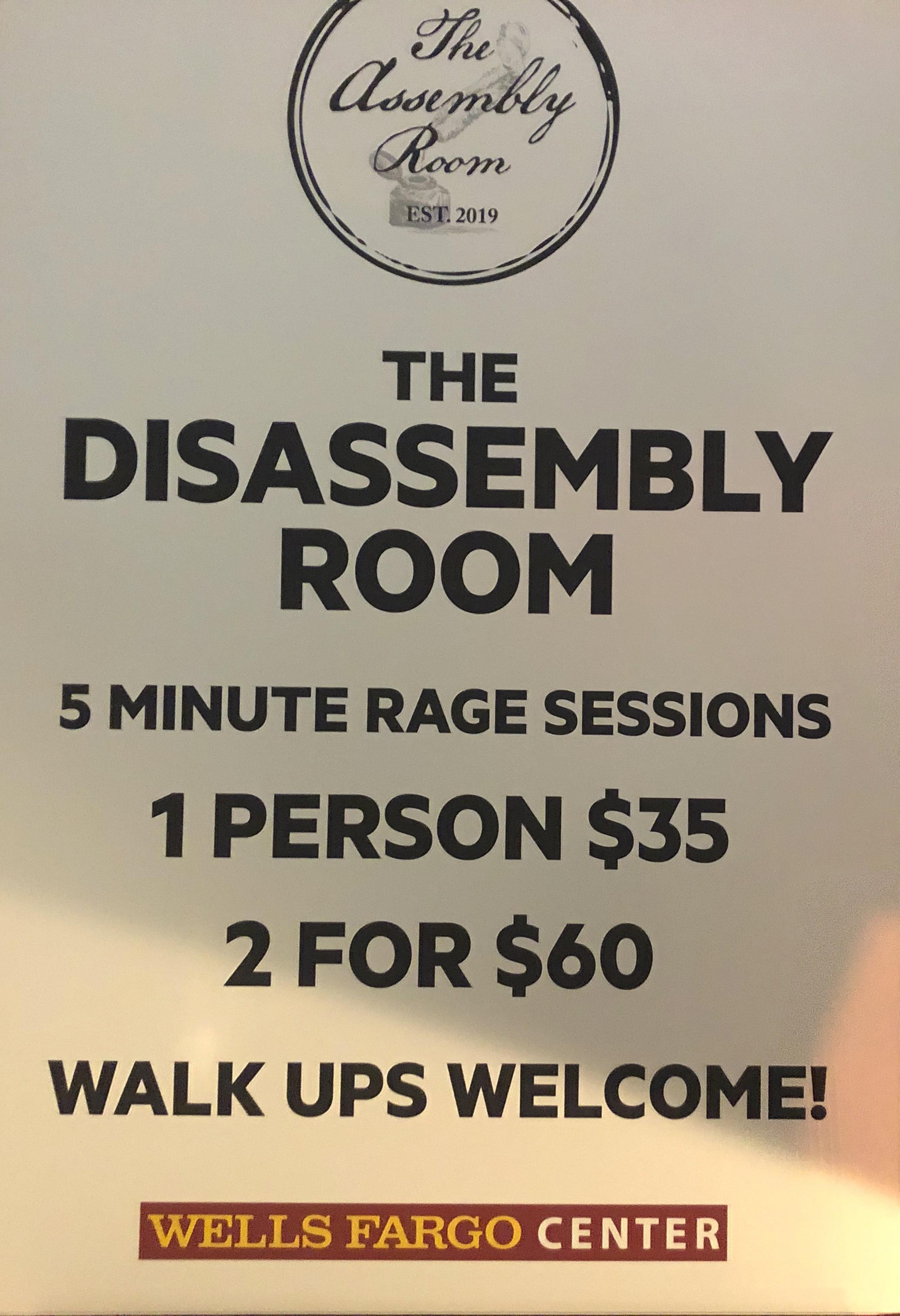 Philadelphia Flyers Rage Room