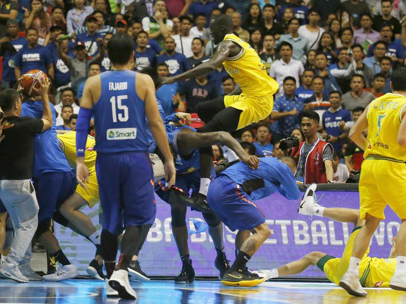 Australian and Phillipines national basketball teams