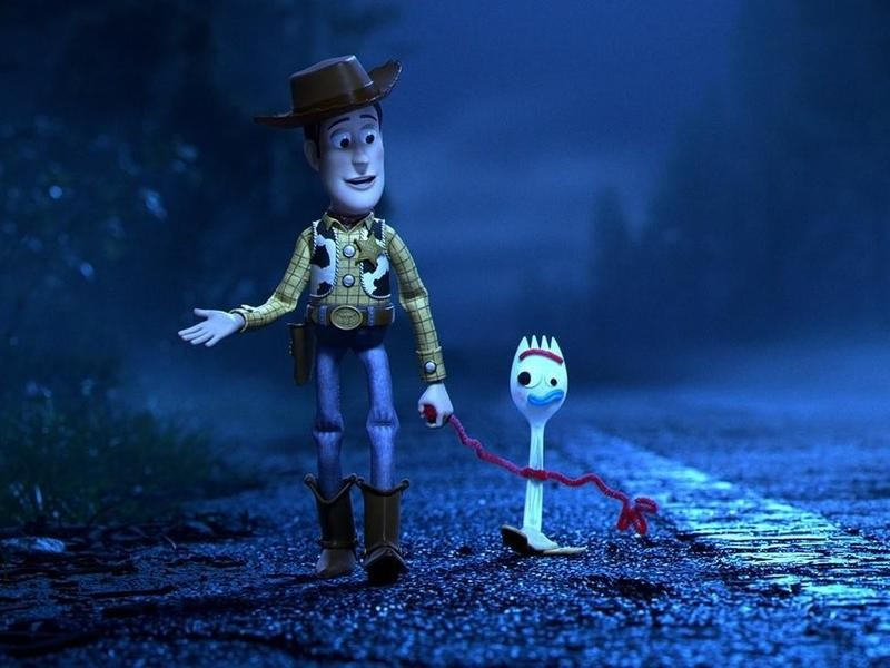 Woody and Forky in Toy Story 4