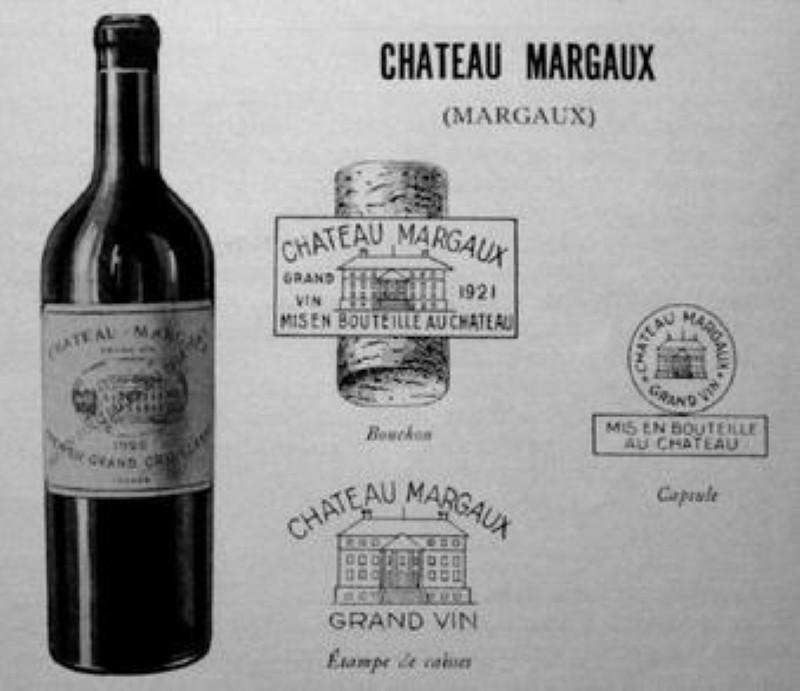 1931 Chateau Margaux presentation card