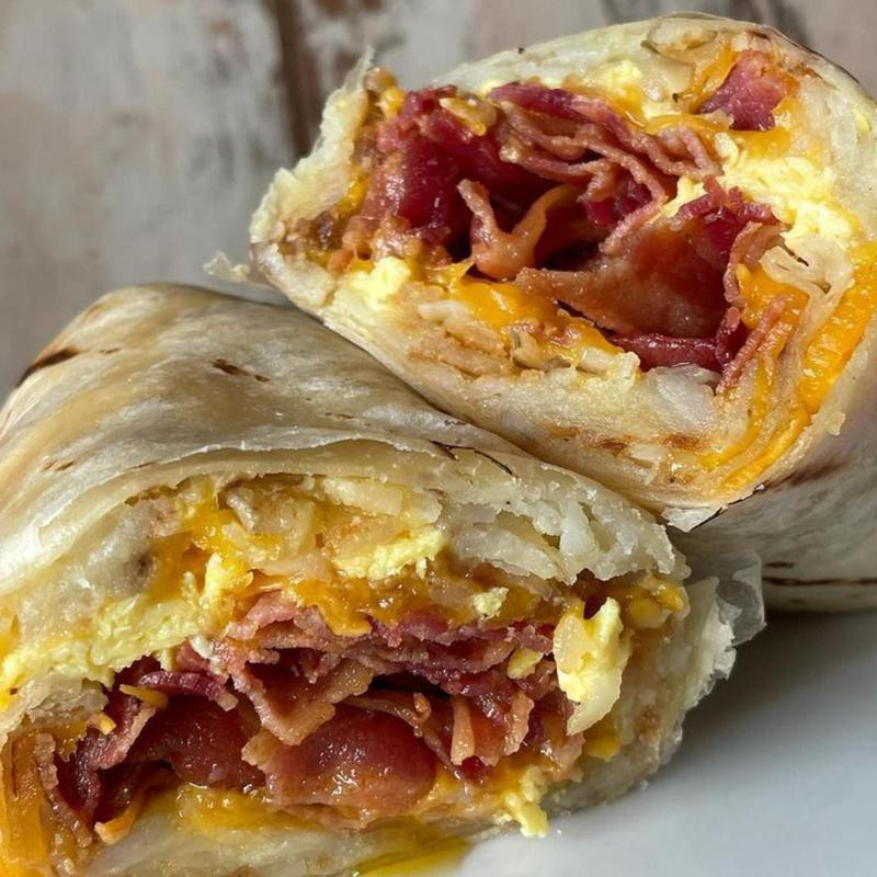Lucky Boy breakfast burrito