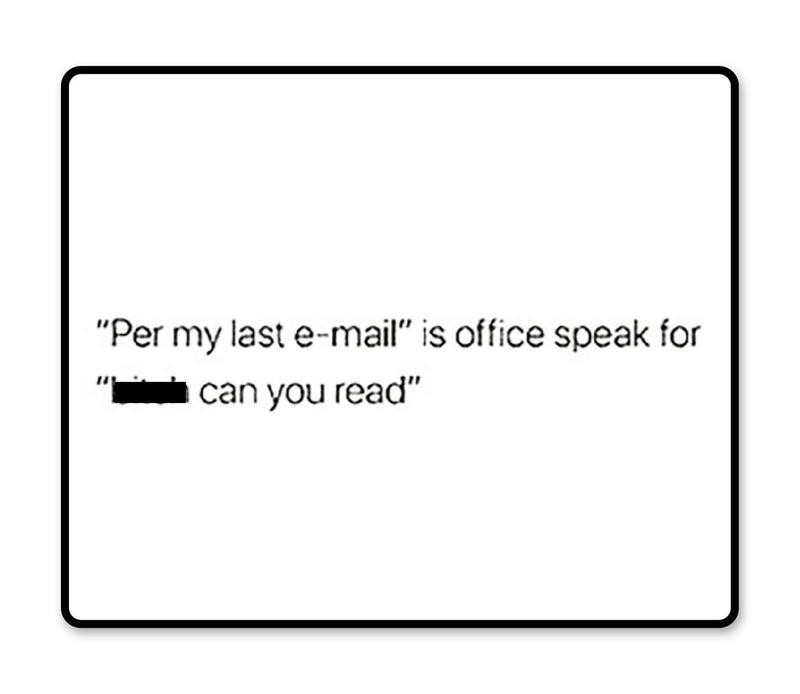 Office speak