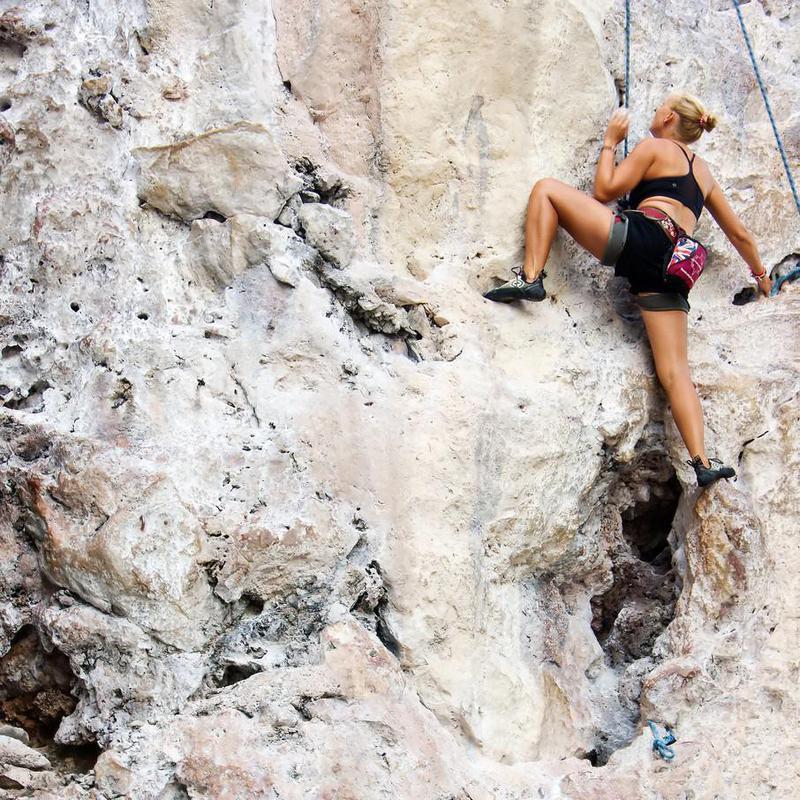 Climber at Railay, Thailand