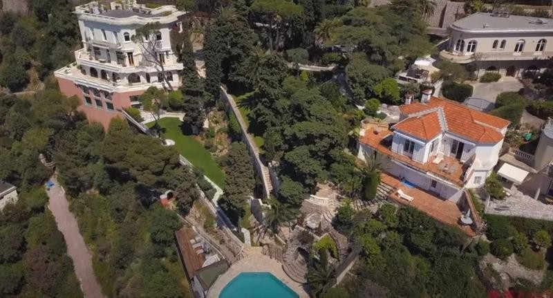 Aerial view of Sean Connery's old estate in France