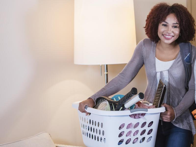 Recruit Your Laundry Basket to Corral Clutter