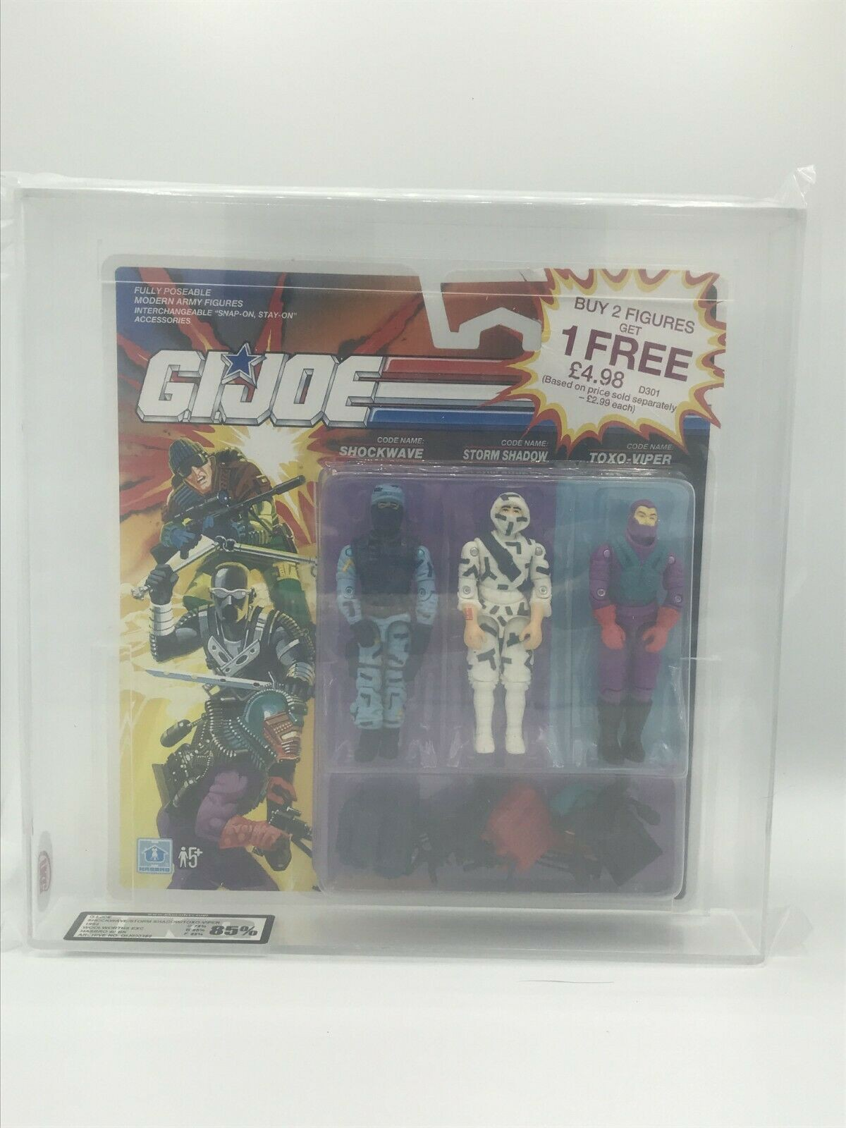 Storm Shadow, Shockwave and Toxo-Viper Woolworth exclusive