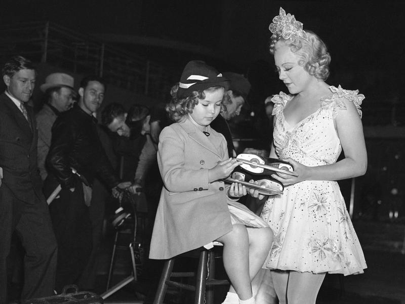 Shirley Temple and Sonja Henie