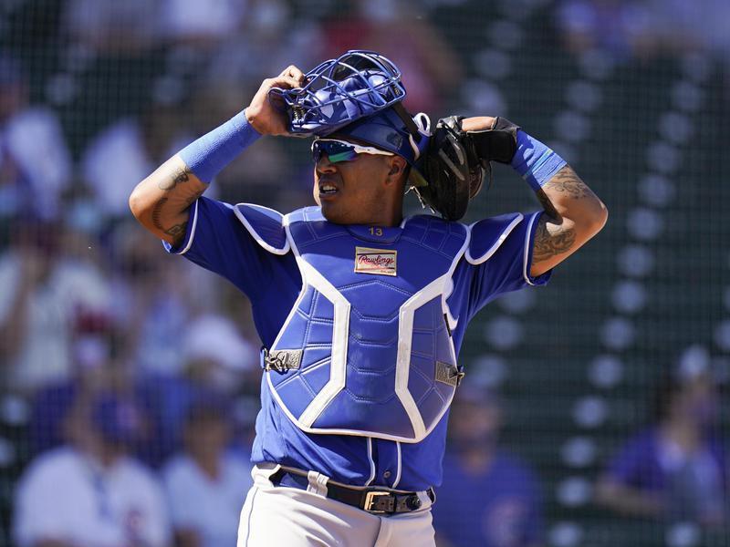 Kansas City Royals catcher Salvador Perez