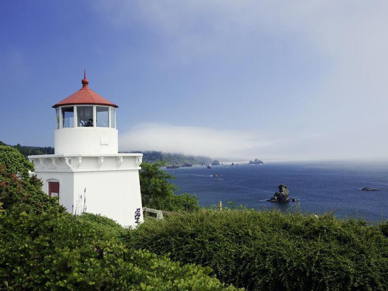 Trinidad lighthouse in California