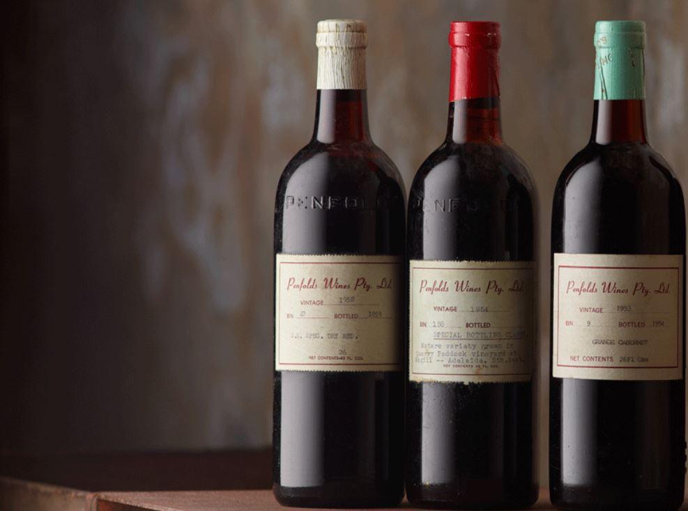 Penfolds vintage wine
