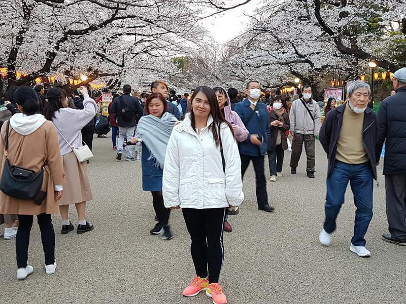 Visitors at the Ueno Zoo
