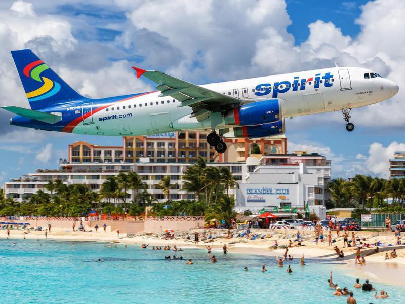 Spirit Airlines at Sint Maarten airport