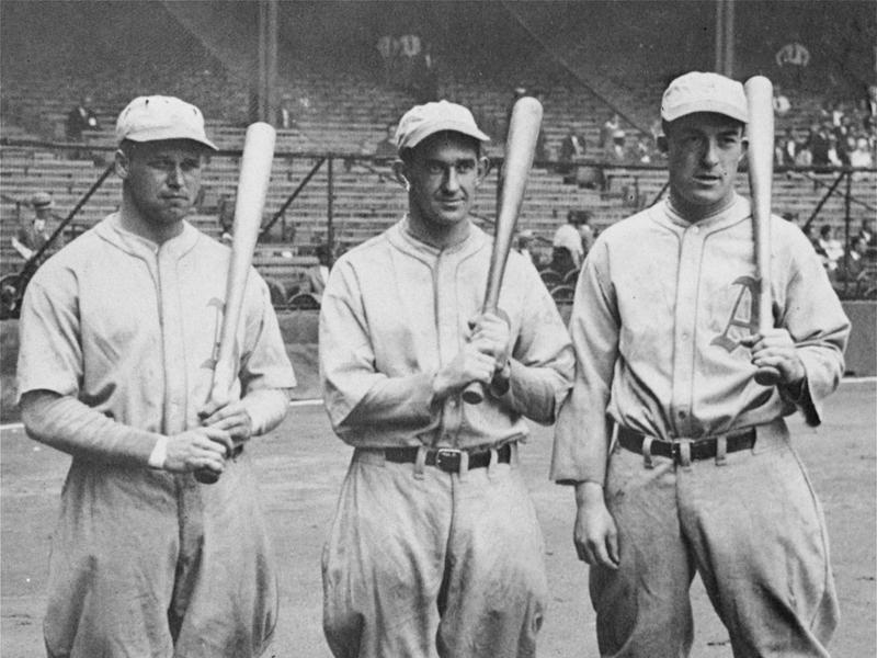 Jimmy Foxx, Mickey Cochrane, and Al Simmons