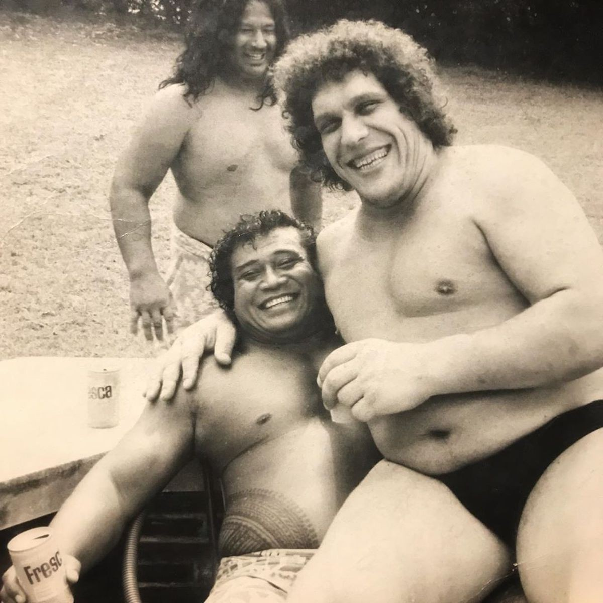 Peter Maivia and Andre the Giant