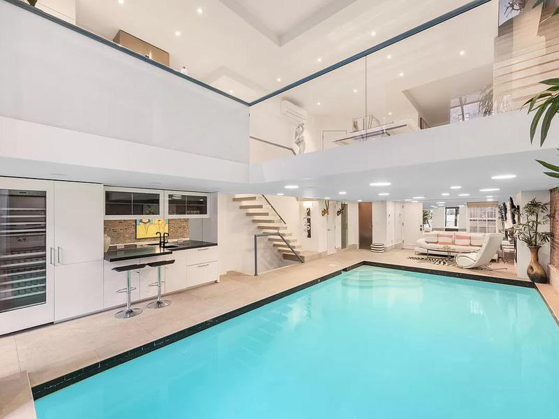 The living room pool in New York