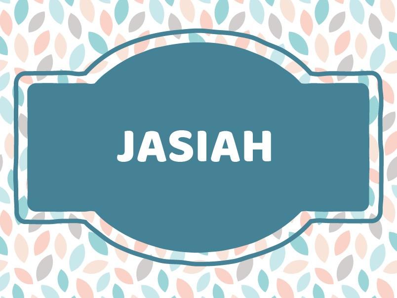 J Baby Names: Jasiah