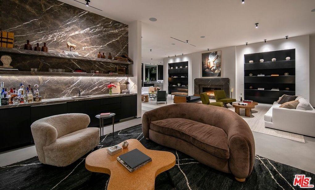 Modern marble bar