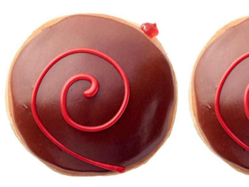 Chocolate Iced Raspberry Filled Donut