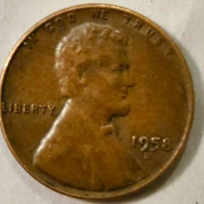 1958 Lincoln Wheat Cent Penny (Doubled-Die Obverse)