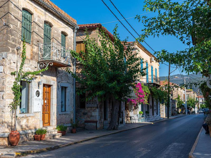 Kardamyli town in Greece