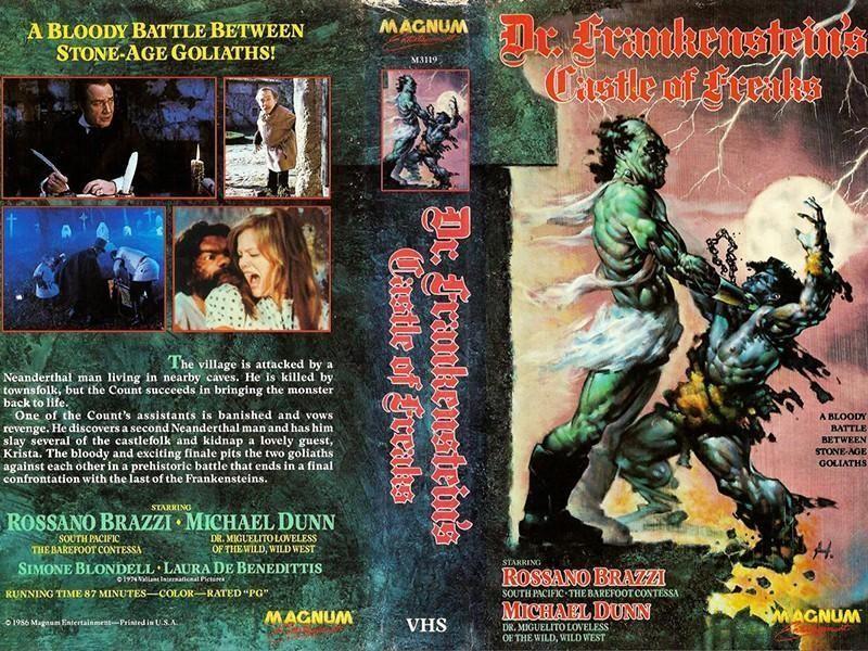 Frankenstein's Castle of Freaks VHS tape