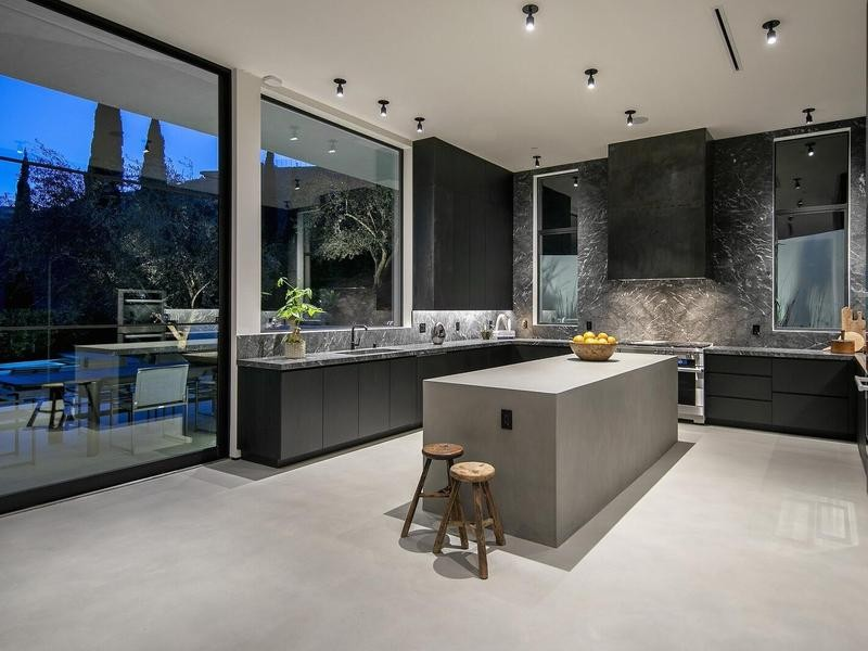 Modern kitchen with brutalist vibes