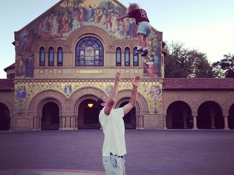 Flying kid at Stanford