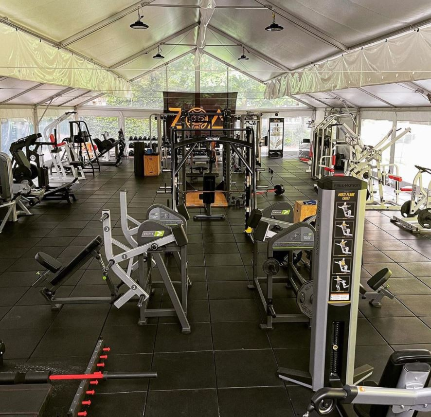 The Rock's mobile gym