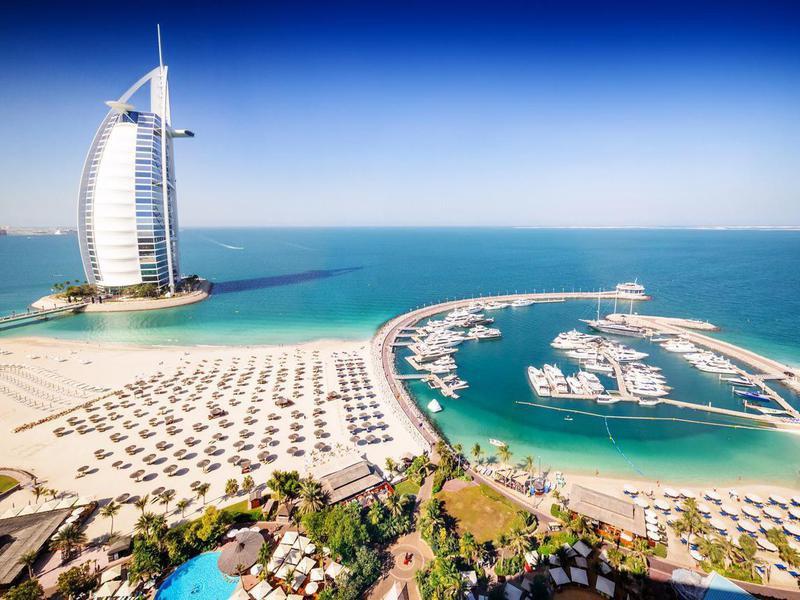 Luxury resort and beach in Dubai