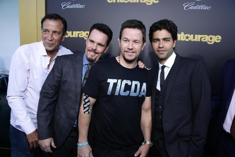 Mark Wahlberg and other actors at premiere of Entourage