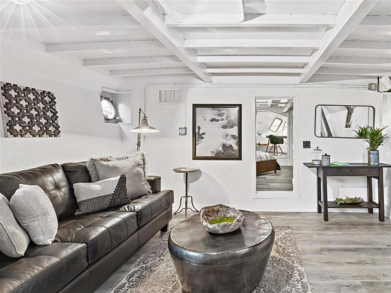 Shel Silverstein's renovated living room